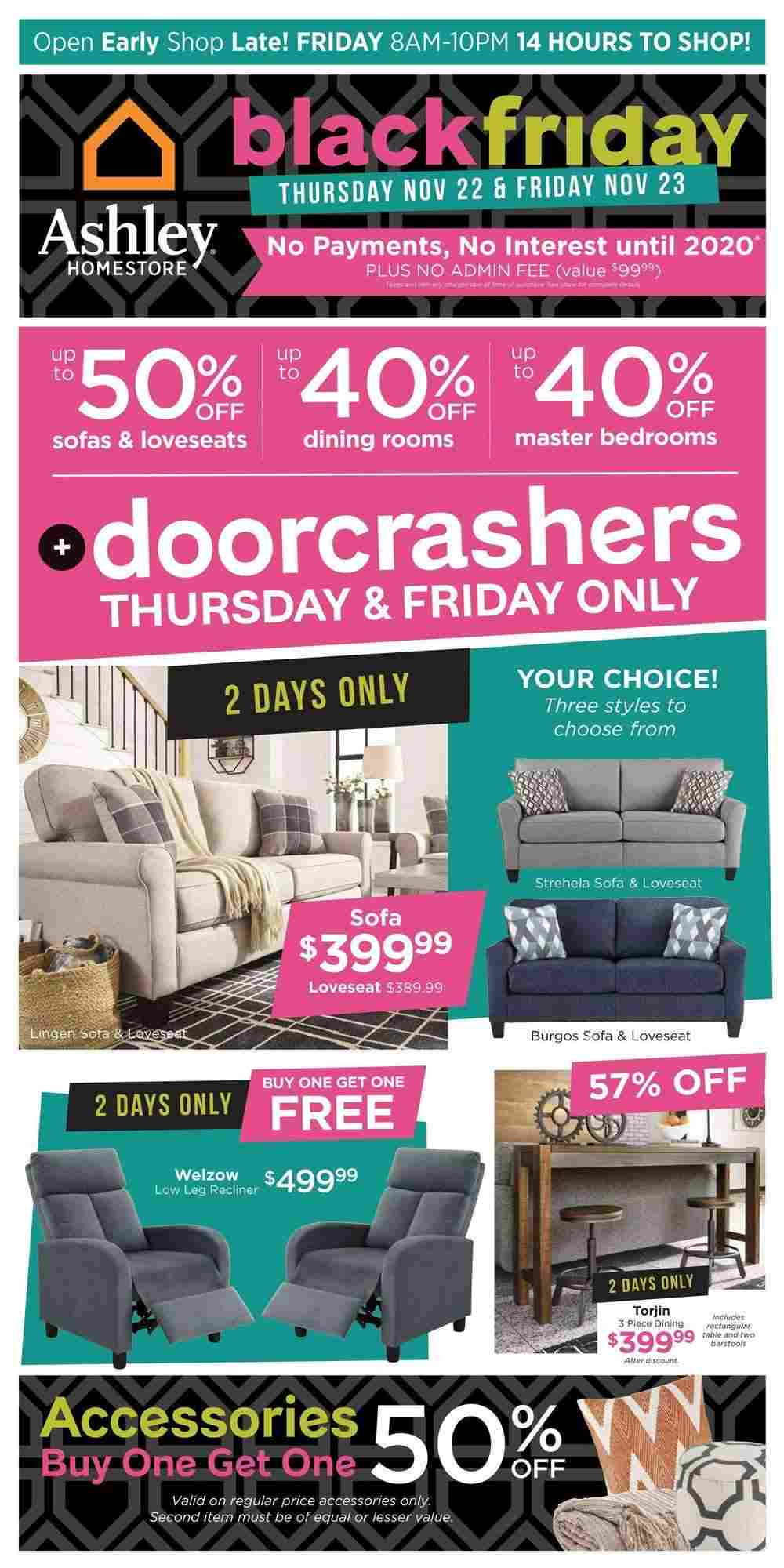 Ashley Furniture Homestore Flyer (ON) Black Friday Sale November