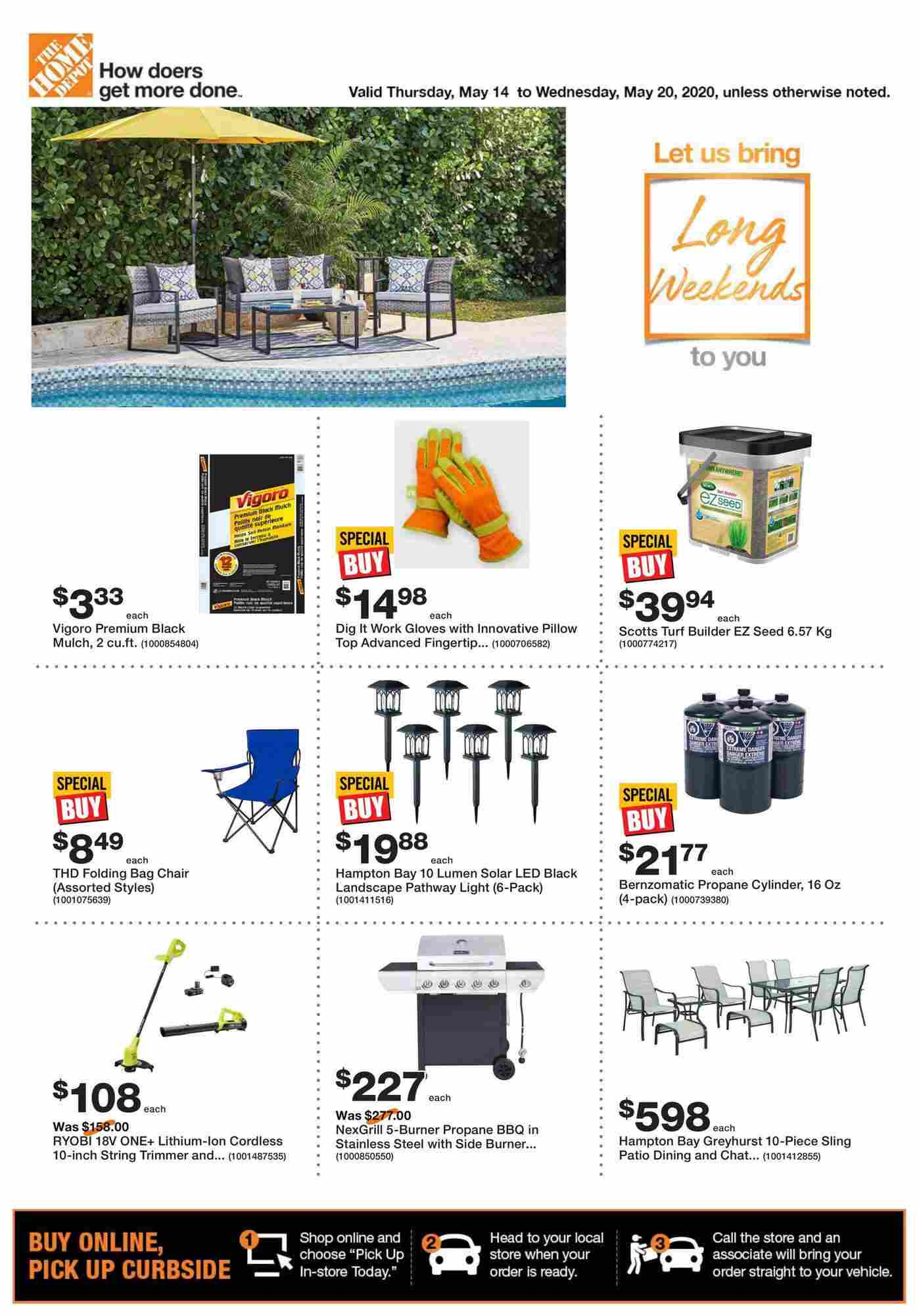 Home Depot Flyer On May 14 20 2020