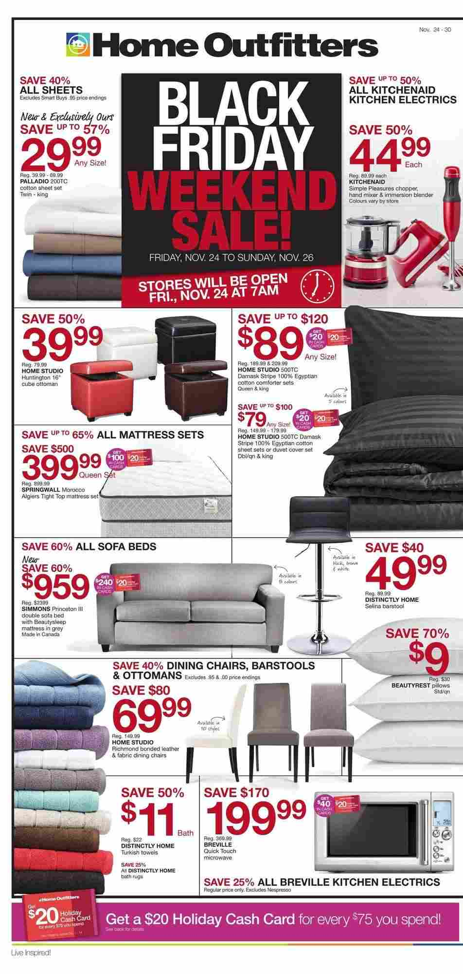Wondrous Home Outfitters Flyer On Black Friday Weekend Sale Evergreenethics Interior Chair Design Evergreenethicsorg