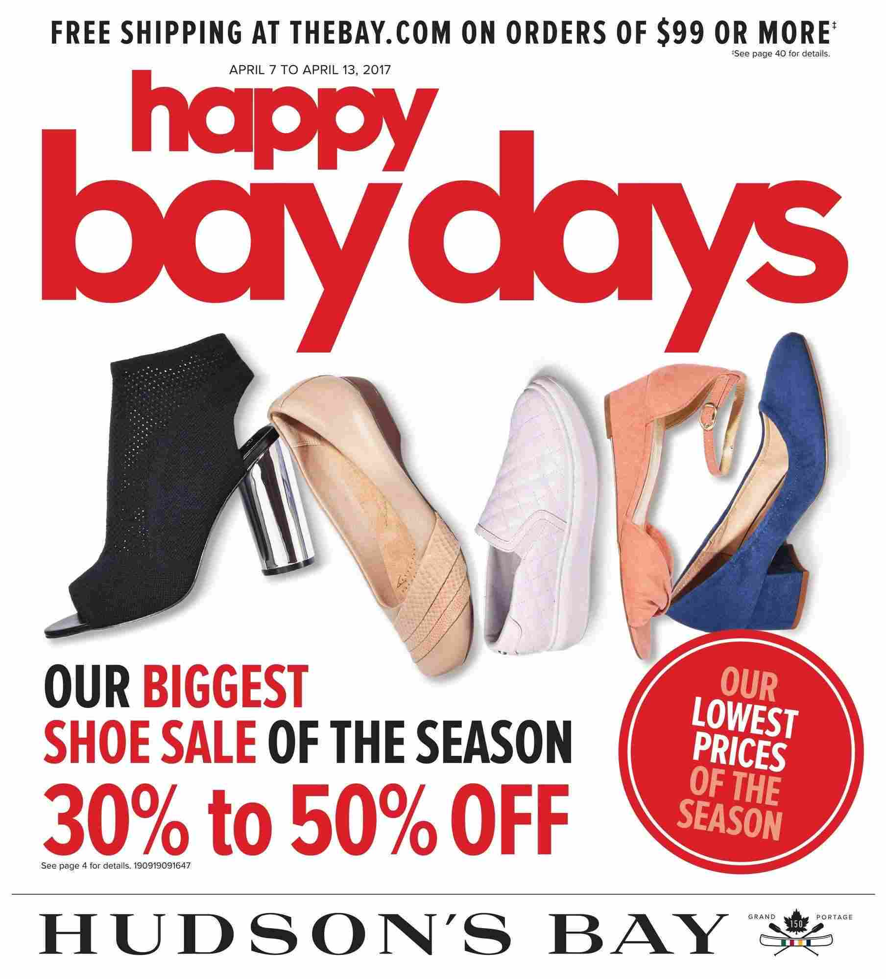 Circulaire Hudson's Bay Shoe Sale Avril