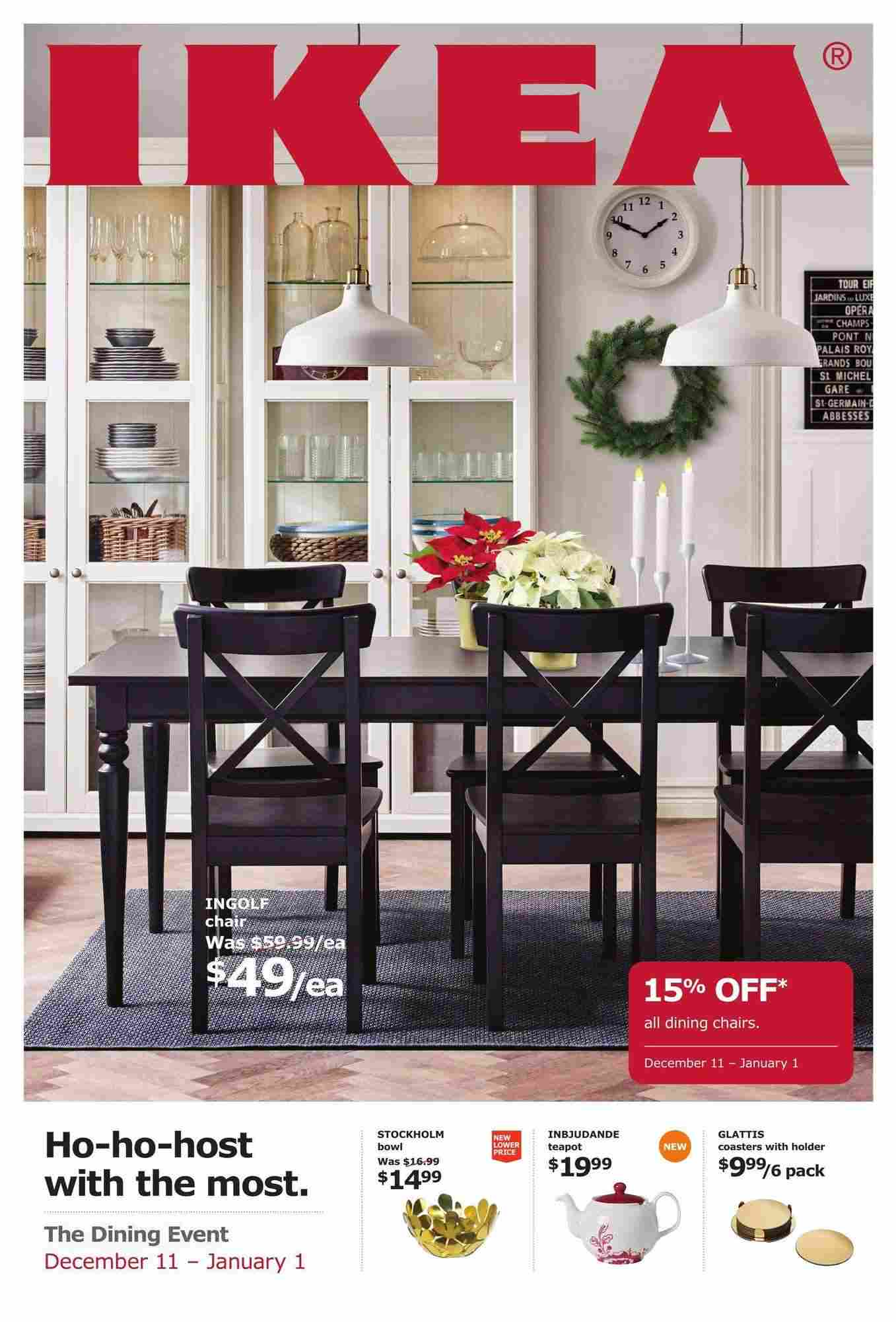 IKEA Flyer (ON) The Dining Event December 8 - January 8 2088