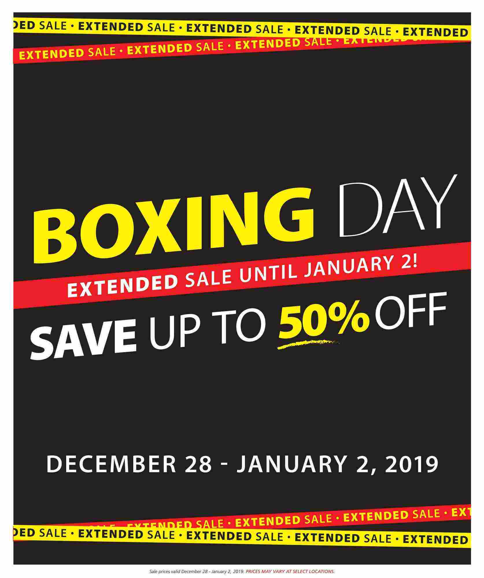 Boxing Day 2019