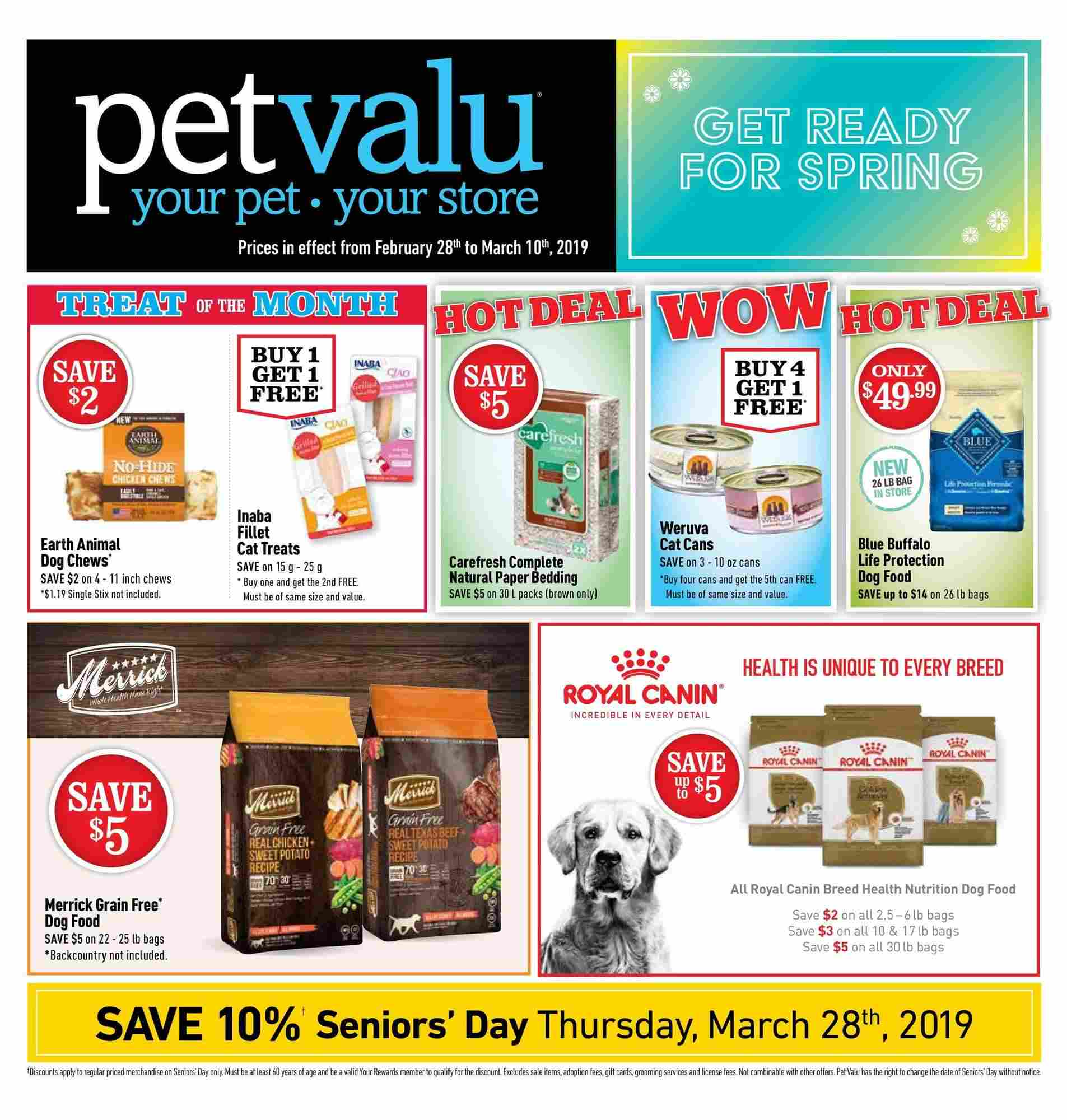 Pet Valu Flyer On February 28 March 10 2019