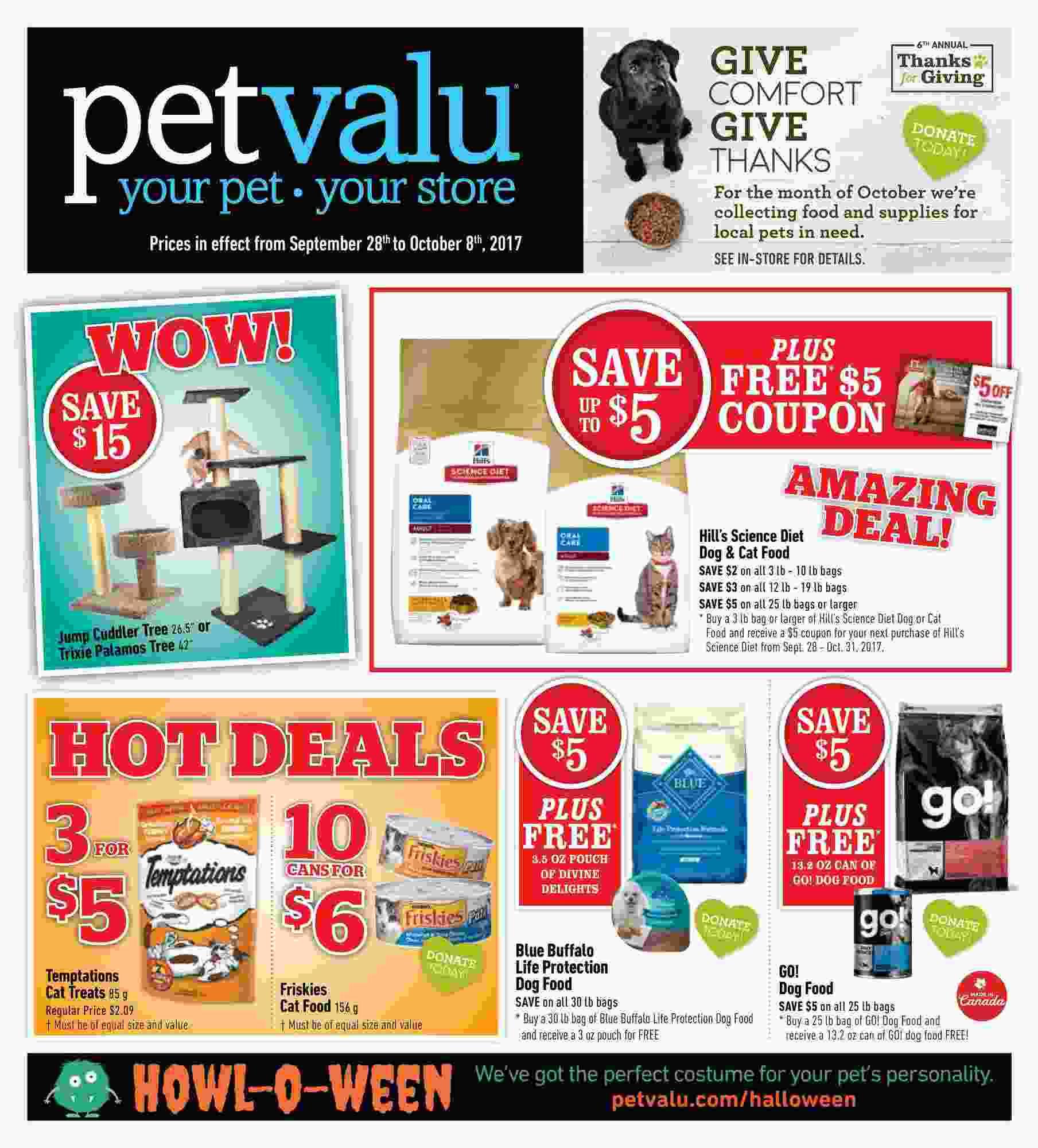 Pet Valu Flyer On September 28 October 8 2017