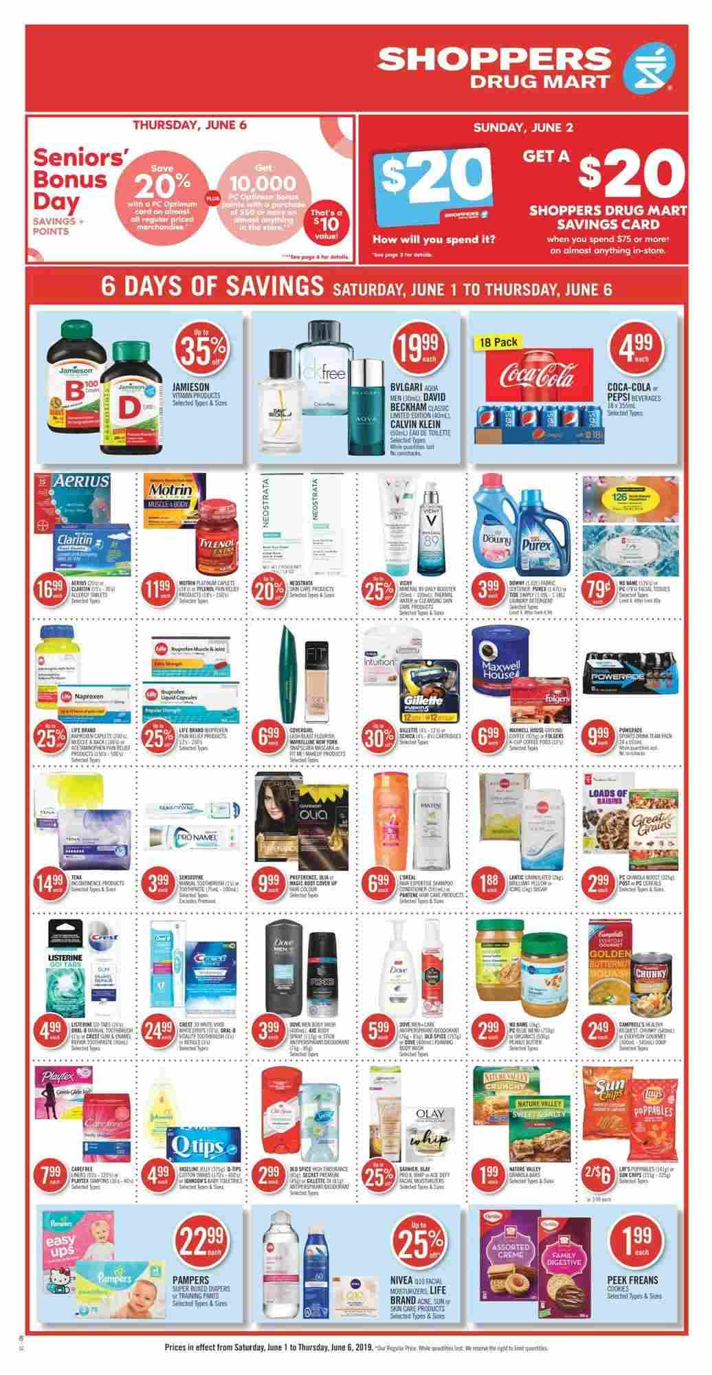 Shoppers Drug Mart Flyer (ON) June 1 - 6 2019