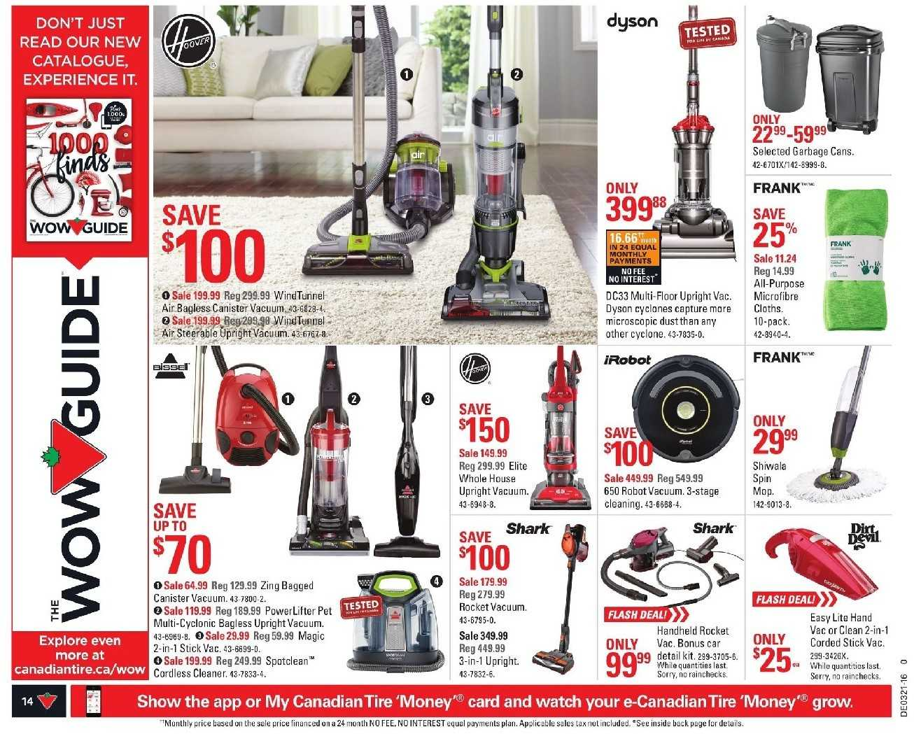 Canadian Tire Flyer Hoover Vacuum May 2016