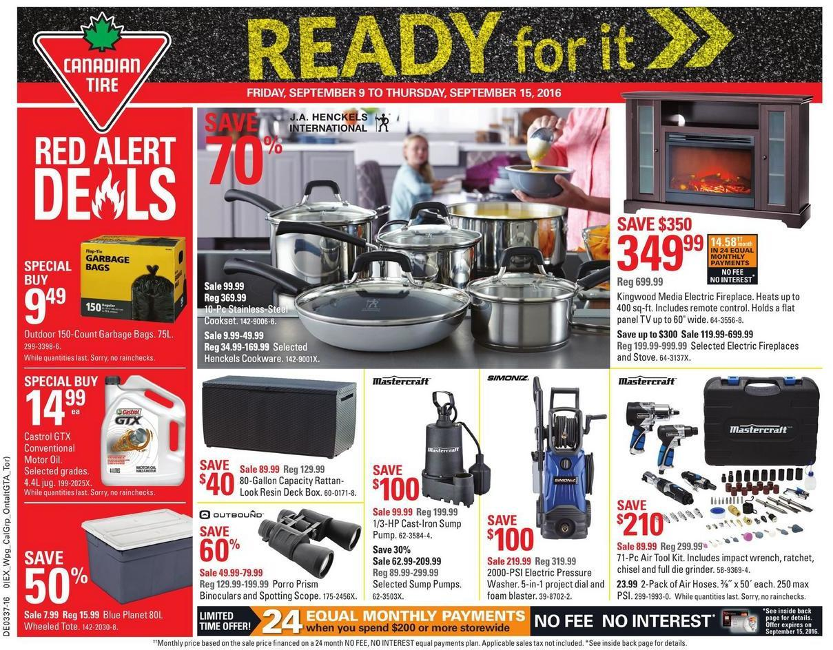 Canadian Tire Flyer September 10 2016