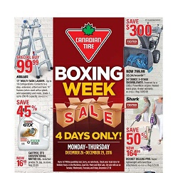 Canadian Tire Boxing Week Flyer December 26 - 29 2016