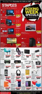 Staples Flyer December 25 2016 Boxing Week Specials