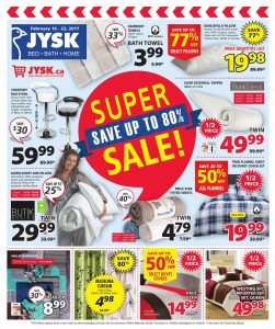 JYSK Flyer February 20 2017 Super Sale