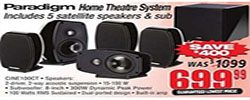 Canada Day SAVE Save $400 on Paradigm Home Theatre Systems