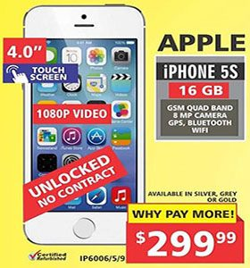 Canada Day Apple iPhone 5s only $299.99