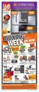 Home Depot Flyer Boxing Week Sale December 25 2017