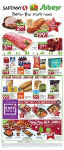 Safeway Flyer Holiday Deals 10 Dec 2017