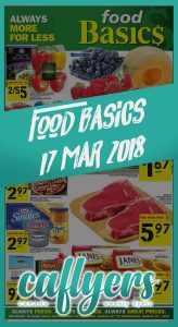 Food Basics Flyer Cheap Food 17 Mar 2018