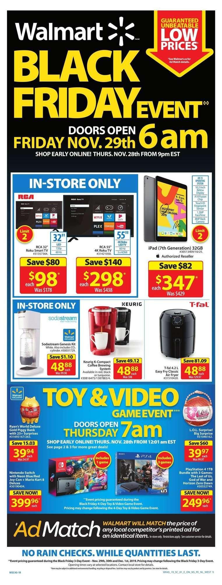 Walmart Flyer Black Friday Deals 30 Nov 2019